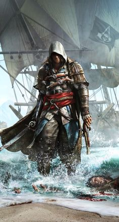 Edward From assassins creed. like when u notice the creepy thing