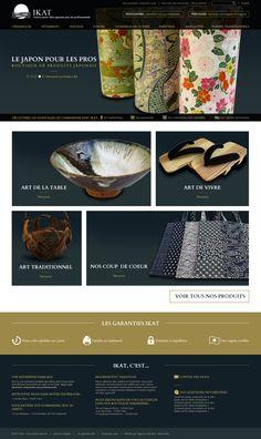 IKAT  Conception, réalisation graphique du site de Ikat. Boutique de décoration et d'objets asiatiques haut de gamme.  Client : Ikat Agence : Netemedia