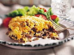 Impossibly Easy Cheeseburger Bake (Cooking for 2) 6 points per serving - pair with veggies for a low point dinner!