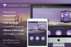 Diamond Theme – WordPress by Anthony Lekarew on @creativemarket