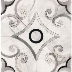 Close Out - MJ Verona Light Bardiglio & Statuario & Black Art Deco Tiles, Online Tile Store, Unique Tile, Stone Flooring, Ceramic Painting, Verona, Accent Decor, Tile Floor, Hardwood