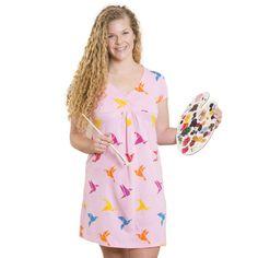 Origami Birds Empire Waist Dress by Svaha - Svaha Apparel Teacher Dresses, Bird Dress, Smart Outfit, Origami Birds, Outfit Posts, Plus Size Dresses, Dress Skirt, Empire, Summer Dresses