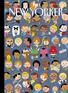 """It's one of my few guilty pleasures,"" Ivan Brunetti says, about going to the movies—the inspiration behind his cover for the new issue."