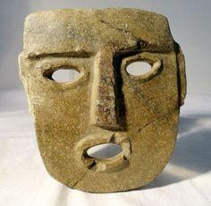 Chontal or Mezcala Pre-Columbian Carved Stone Mask : Lot 68