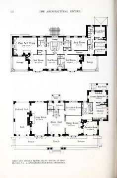 Architecture Mapping, Architecture Plan, Home Design Floor Plans, House Floor Plans, Architectural Floor Plans, Architectural Drawings, Floor Plan Drawing, Vintage House Plans, Art Deco Home