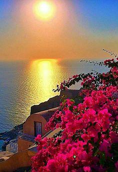 Beautiful Nature Pictures, Amazing Nature, Beautiful Places, Santorini, Romantic Destinations, Chula, Exotic Places, Beautiful Sunrise, Belle Photo