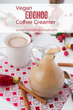 Vegan Eggnog Coffee (or tea) Creamer #vegan #coffee #eggnog