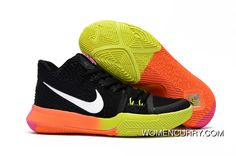 79e164ef22f3 Girls Nike Kyrie 3 Black Colorful Volt Orange Pink