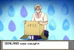 Pokemon x Hetalia Sealand was caught