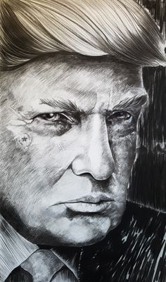 Trump Lee Jeffries, Drawings, Artist, Drawing, Portrait, Paint, Paintings, Doodle, Draw