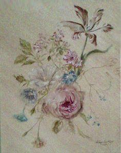 Aleksandra Zając, oil painting, Bouquet