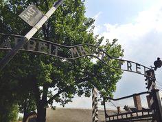 """""""Arbeit Macht Frei"""" Gates to Auschwitz, Oświęcim, Poland"""