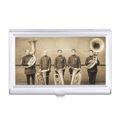 Vintage Tuba Cops Police Union Brass Band ca 1900s Business Card Holders