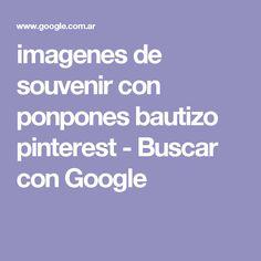imagenes de souvenir con ponpones bautizo pinterest - Buscar con Google