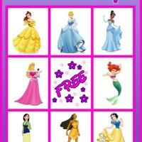 Printable Disney Princess Bingo