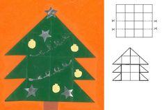 Kerstboom 16 vierkantjes