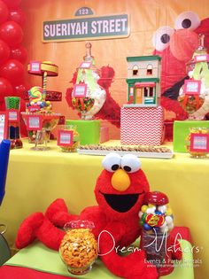 Check out Elmo at this Sesame Street birthday party!  See more party ideas at CatchMyParty.com!
