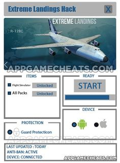 Extreme Landings Cheats, Hack, & Tips for Flight Simulator & All Packs Unlock  #ExtremeLandings #Simulation #Strategy http://appgamecheats.com/extreme-landings-cheats-hack-tips-flight-simulator-packs-unlock/