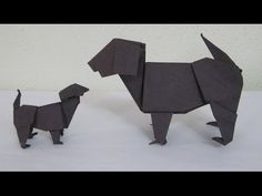 How to make the amazing Origami Dog - the Labrador (Oct 2010) - YouTube