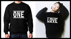 One Love Cute Matching Couple Unisex T-shirts/ by MydaGreat