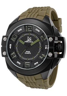 Special Offers Save 90% Off Joshua & Sons Men's Green Silicone Black Dial Black IP SS Casio Watch, Sons, Watches, Green, Cyber, Accessories, Shopping, Black, Wrist Watches