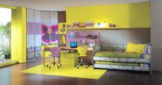 teenager zimmer m dchen einrichten holzm bel florale. Black Bedroom Furniture Sets. Home Design Ideas