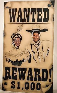 Lifesize Cardboard Cutout Standee Party Decoration Western Wanted Poster Outlaw