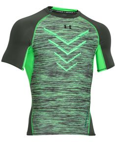 Under Armour packs performance features such as an ultra-tight compression fit and HeatGear protection into a handsome space-dyed T-shirt. | Polyester/elastane | Machine washable | Imported | Compress