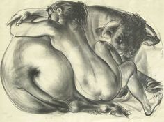 Hans Erni - Rape of Ueropa - Lithograph