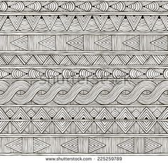 Seamless tribal pattern. Hand-drawn background. EPS 8 vector illustration.