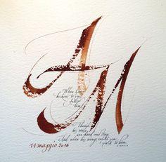 Calligraphic design | Matrimoni Idee Regalo - Hochzeits Geschenk Ideen - Calligraphic design