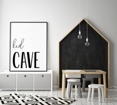 DIGITAL FILE Kid Cave Print Kid Cave Sign Playroom Decor   Etsy Boys Room Decor, Playroom Decor, Room Wall Decor, Nursery Decor, Kids Room, White Wall Art, White Walls, Personalised Posters, Little Corner