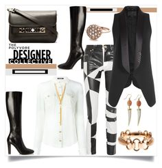 """""""The Polyvore Designer Collective"""" by helenaymangual ❤ liked on Polyvore featuring Balmain, Yves Saint Laurent, Versus, Alexander Wang, BERRICLE, Ashley Pittman, Arik Kastan and Proenza Schouler"""