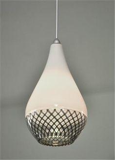 Drop Reticello Glass Pendant Light, $1190 on www.artisancraftedlighting.com