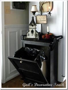 need to find a cabinet to rework to make this so i can stop worrying about the dog getting in the trash