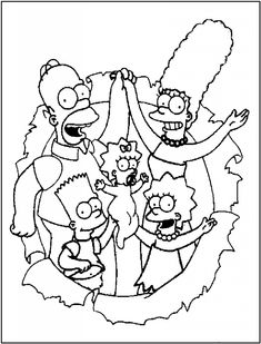 The Simpsons Coloring Pages | Cartoon coloring pages ...