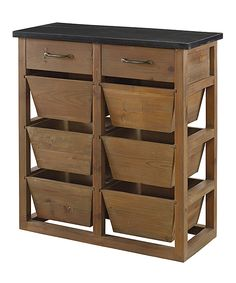 Bluestone Storage Chest with 2 drawers & 6 baskets