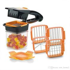 Shop for 5 in 1 Multifunctional Quick Stainless Food Fruit Vegetable Cutter Slicer Chopper Nicer Dicer with Container Green Orange. Get free delivery On EVERYTHING* Overstock - Your Online Kitchen & Dining Shop! Cool Kitchen Gadgets, Home Gadgets, Cooking Gadgets, Kitchen Hacks, Kitchen Tools, Cool Kitchens, Kitchen Ideas, Cool Gadgets To Buy, Kitchen Appliances