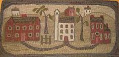 The Village Rug Hooking pattern