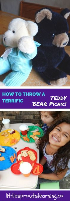 A Teddy Bear picnic a simple, fun thing to do with your childcare, daycare, or school. Simple fun.