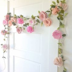 Flower Garland Decorative Ideas - This item is made to order with a week turnaround time. A fun and festive felt flower perfect for nurseries room decor, special events, - Trending decorative uses of flower garlands in 2019 Felt Flowers, Diy Flowers, Fabric Flowers, Paper Flowers, Paper Flower Garlands, Floral Garland, Green Flowers, Felt Diy, Felt Crafts