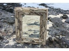 "Driftwood Mirror 20""x24"" - Coastal Living. Driftwood Mirror: here is a beautiful hand made driftwood mirror. This mirror will add a nice coastal accent to your bathroom, living room or any places for your home decor. Size 20"" X 24"""