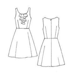 free pattern - burda. coffee date dress