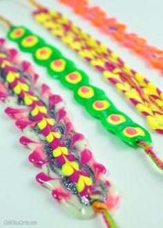 puffy paint friendship bracelet easy craft idea