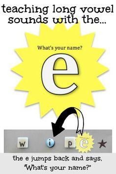 classroom, names, children, homeschool, long vowel sounds, teach long, educ, learn read, kid