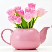 photography tulips in a teapot Pink Tulips, Tulips Flowers, Spring Flowers, Planting Flowers, Watercolor Flowers Tutorial, Flower Tutorial, Share Pictures, Photo Bouquet, Flower Arrangements Simple