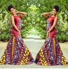 Ankara Long Gown Design  ~Latest African Fashion, African Prints, African fashion styles, African clothing, Nigerian style, Ghanaian fashion, African women dresses, African Bags, African shoes, Nigerian fashion, Ankara, Kitenge, Aso okè, Kenté, brocade. ~DKK