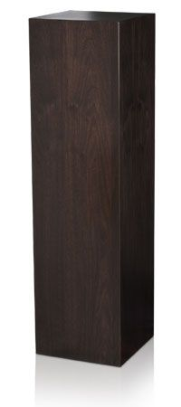 Ebonized Dyed Walnut Wood Veneer Pedestal