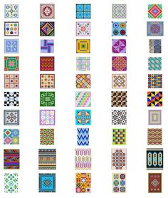Free Printable Seed Bead Patterns | Bead Patterns, Loom Patterns, Mosaic Patterns, Geometric Charted ...