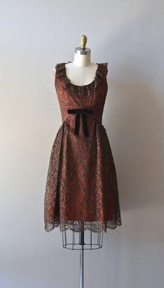 Mazurka lace dress / 60s lace party dress / vintage by DearGolden